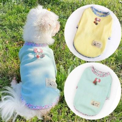 골지플라워티 강아지티셔츠 애견옷 강아지옷 애견산책옷