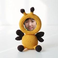 손뜨개 액자인형 꿀벌 (뜨개액자 완성품)