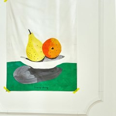 일상그림 패브릭 포스터 'Pear and mandarin'