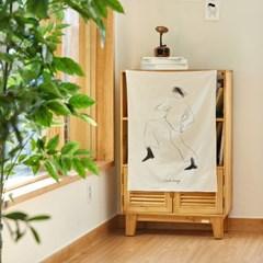 일상그림 패브릭 포스터 '춤꾼'
