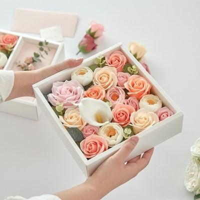 코로나 추석 부모님선물 플라워 용돈박스 장미 비누꽃박스