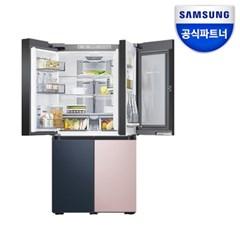 으뜸효율10%환급 비스포크 냉장고 RF85R9281AP 글라스