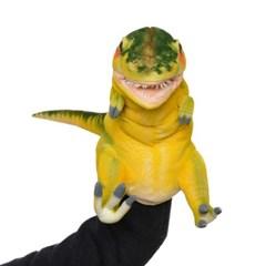 7766-공룡퍼펫(손인형) 티렉스(옐로그린) 50cm.L_(1573131)