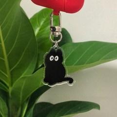 Black cat keyring