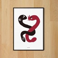 뱀장어와 꼼장어 M 유니크 인테리어 디자인 포스터 식당