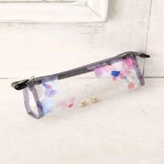 플라워무늬 클리어 안경 케이스