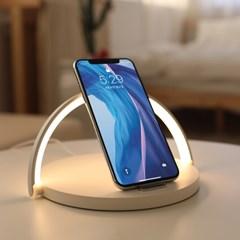 [무아스] 모던심플 고속 무선충전 LED 무드등 조명 수유등 취침조명