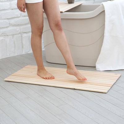항균 편백나무 발매트 욕실매트 발판