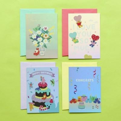 홀로그램 카드 (젤리베어) 01-04