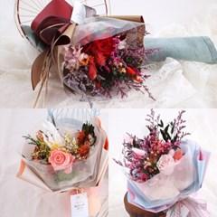 에이동천사호 프리저브드 꽃다발 3종_(163389)