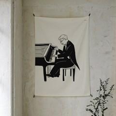 피아니스트 패브릭 포스터 / 가리개 커튼
