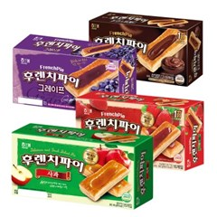 후렌치파이 초코/그레이프/딸기/사과 4개구성_(2287217)