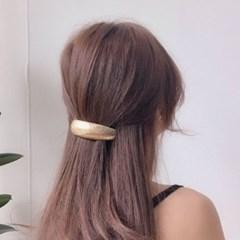 커브 빅 엔틱 메탈 머리 자동핀 헤어핀 2color