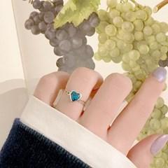 [925silver 원석 반지] 블루하트링
