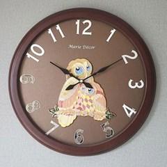 예쁜 인테리어 Wall Clock 미러넘버 부엉이 골드