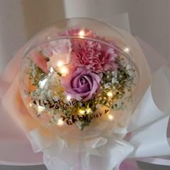 LED 세일러벌룬카네이션꽃다발 30cmP 조화 FAICFT_(1771593)