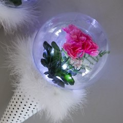 LED 밍크카네이션꽃다발 29cmP 조화 FAICFT_(1771591)