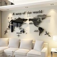 세계지도 아크릴 벽 스티커_(125451)