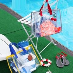 여름 PVC 투명 물놀이 바캉스 비치백_(2371667)