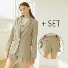 [와드로브] Single Button Jacket + Pleats Shorts S