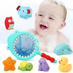 레츠토이 상어와 기린 그물 뜰채 아기 유아 낚시 목욕놀이
