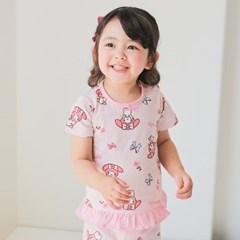 [따솜] 러블리바니 오가닉 5부 자가드 아동 실내복 상하_(1638129)