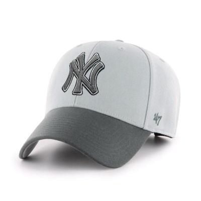 47브랜드 MLB모자 양키즈 투톤 스톰그레이 빅로고 스트럭처