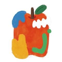 [oloniq MADE] 사과(APPLE) 사각그림