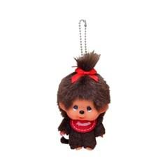 Big Head Monchhichi SS Girl Keychain