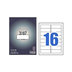 폼텍라벨지 주소용라벨 LS 3107 16칸 100매 규격 라벨스티커 라벨용