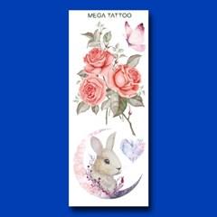 MEGA TATOO MTS 14- 블루밍 타투스티커 헤나 문신 컬러 드로잉