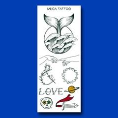 MEGA TATOO MTS 12 - 달보드레 타투스티커 헤나 문신 컬러 드로잉