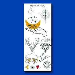 MEGA TATOO MTS 11 - 백야 타투스티커 헤나 문신 컬러 드로잉