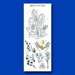 MEGA TATOO]MTS 10 - 버킷리스트 타투스티커 헤나 문신 컬러 드로잉