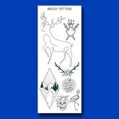 MEGA TATOO MTS 09 - 데이레코딩 타투스티커 헤나 문신 컬러 드로잉