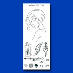 MEGA TATOO MTS 08 - 스윗나잇 타투스티커 헤나 문신 컬러 드로잉