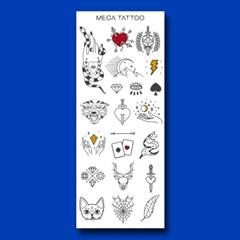 MEGA TATOO MTS 02 - 타로 타투스티커 헤나 문신 컬러 드로잉