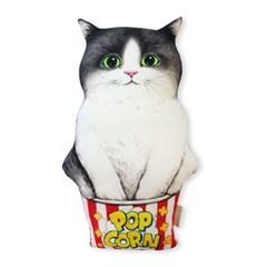 쿠션 - 팝콘 아기고양이