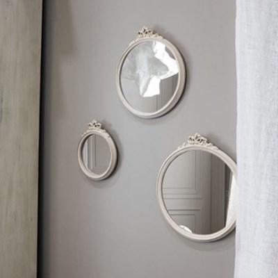 W101안나 원형 벽거울 액자형 데코거울