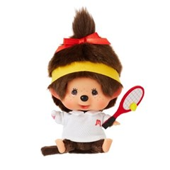 Let's Sports Monchhichi Tennis Girl Big Head S