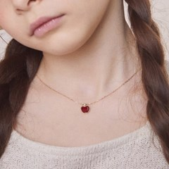 [DISNEY PRINCESS] 10K 14K  빨간 사과 목걸이