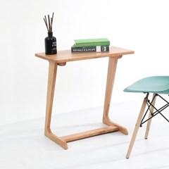 [데코마인] 러비 사이드테이블 600 고무나무원목테이블