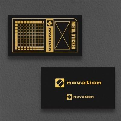 [novation] 노베이션 로고 메탈 스티커 세트