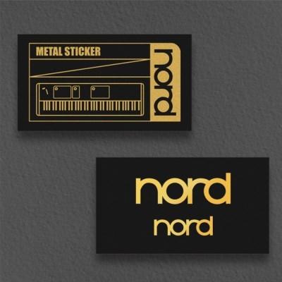 [nord] 노드 로고 메탈 스티커 세트