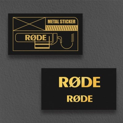 [RODE] 로데 로고 메탈 스티커 세트