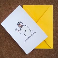 Cake Man 엽서와 봉투세트