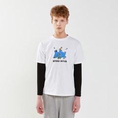 [SM20 SV X Sesame Street] Print Mixed T-Shirts(White_(763704)
