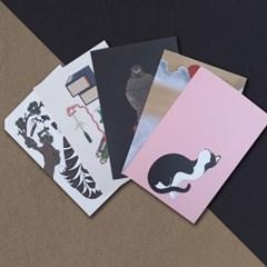 한국 전통 민화 디자인 엽서 세트 시리즈