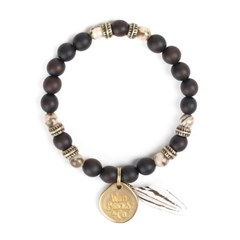 FEATHER BRACELET (dark brown)