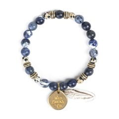 FEATHER BRACELET (blue)